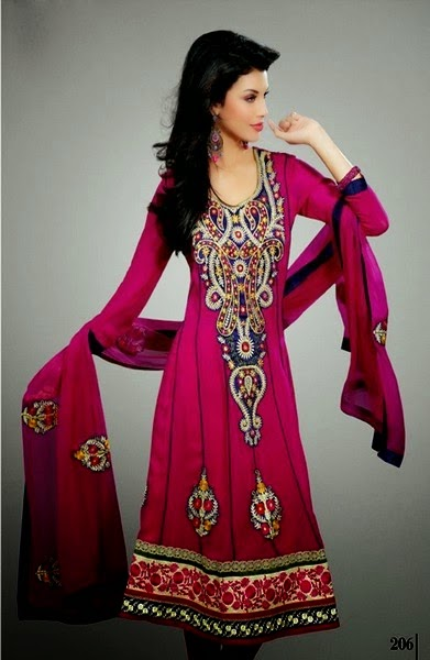 Embroidered Dress Designs 2014