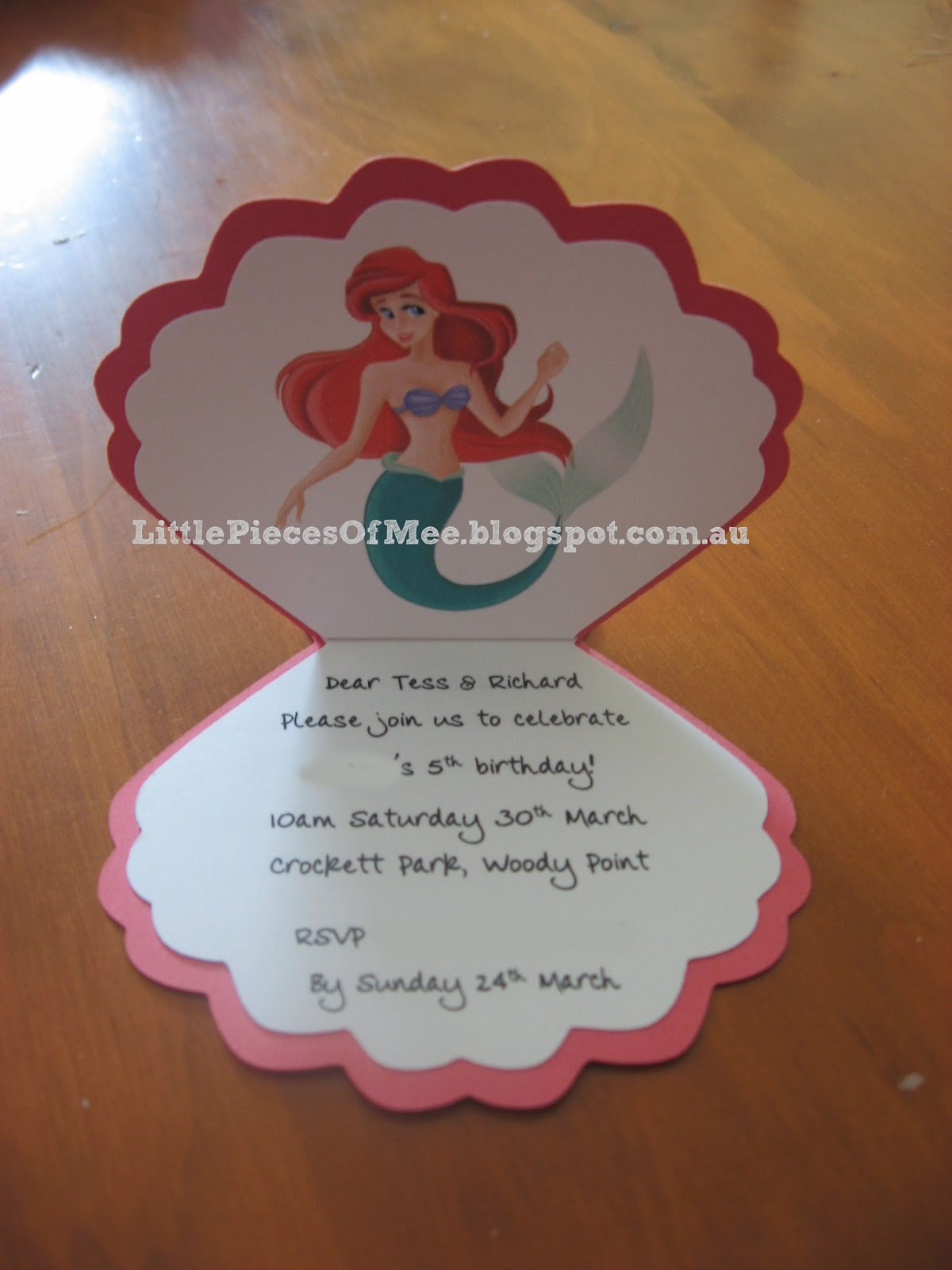 Little Mermaid Handmade Invitations for awesome invitations layout