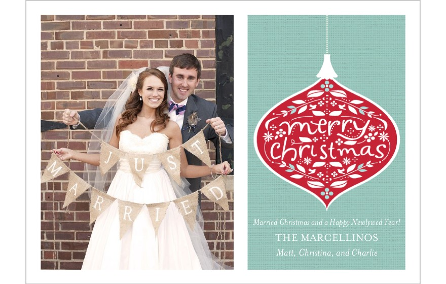 married christmas cards carolina charm