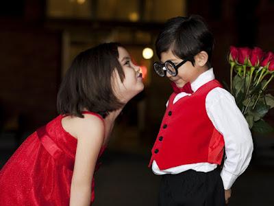 fotos de niño con rosas