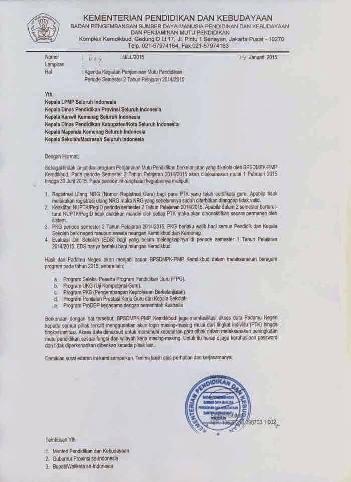 Agenda Padamu Negeri Semester 2 2015