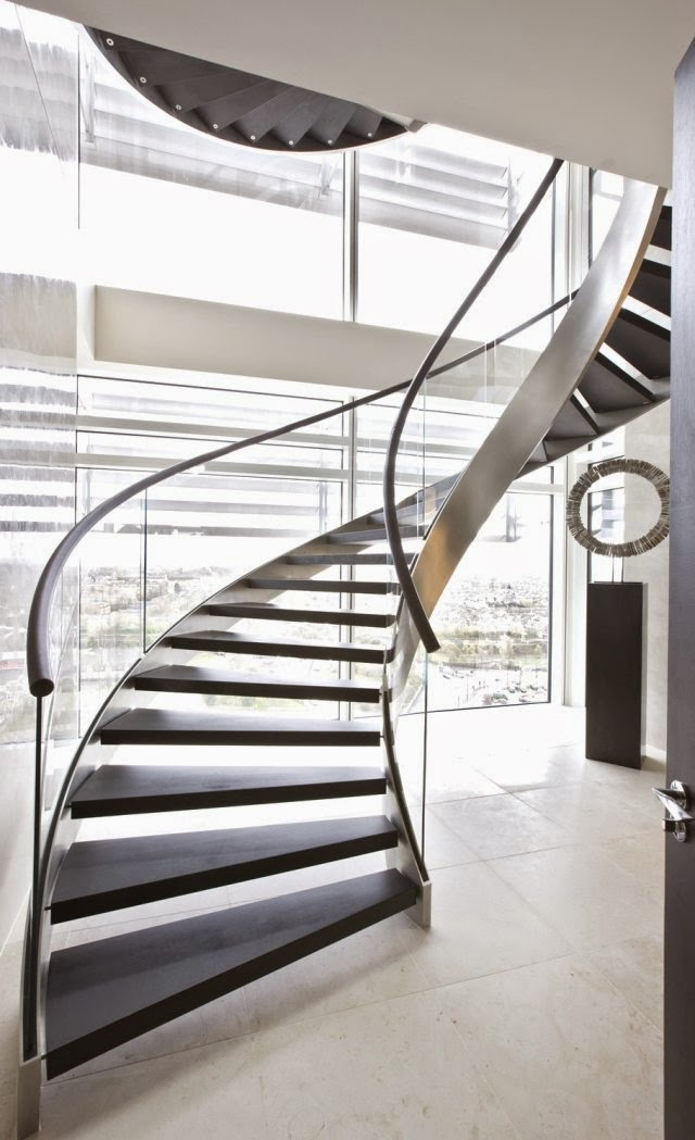 Latest modern stairs designs ideas catalog 2017 - Modern interior design with spiral stairs contemporary spiral staircase design ...