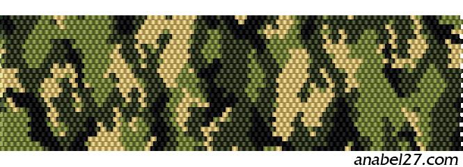 схема бисероплетения мозаика