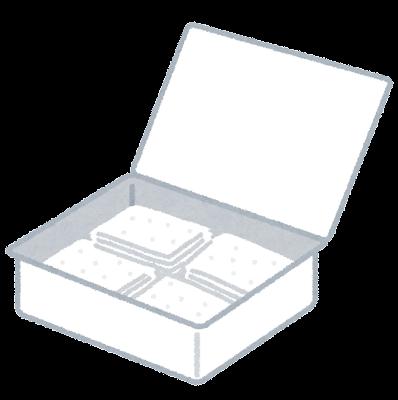 箱に入った酒精綿のイラスト