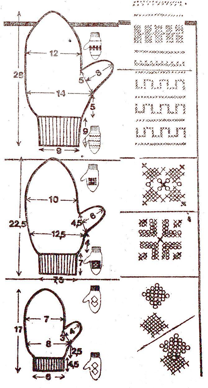 Вязание для детей двойные варежки 71