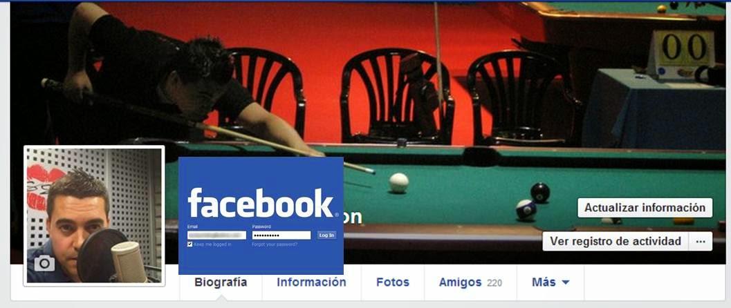 Ejemplo Recuperar Contraseña Facebook