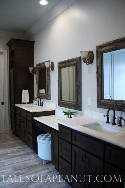 Master Bathroom with Dark Cabinets