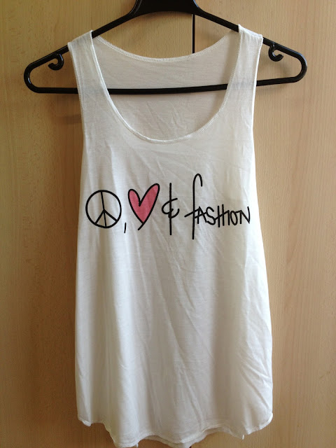 Peace Love and Fashion top