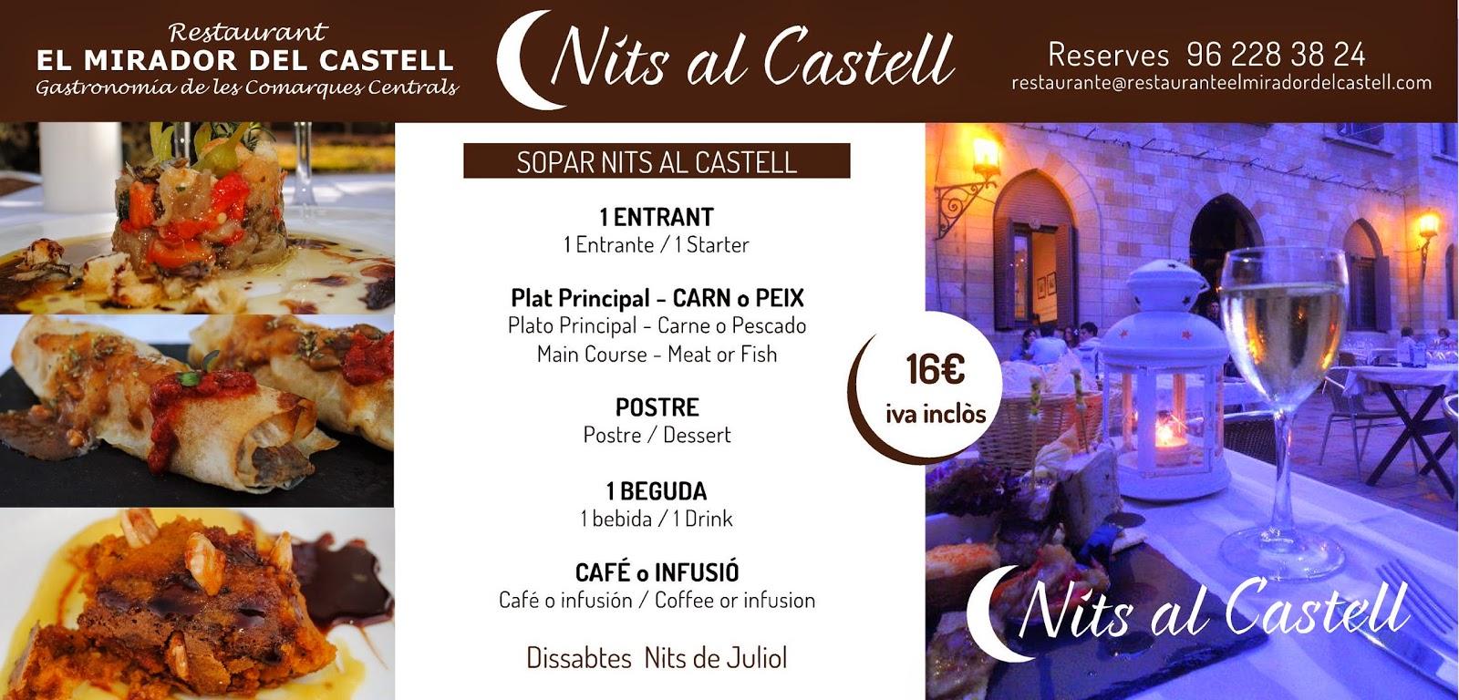 CENAS NITS AL CASTELL