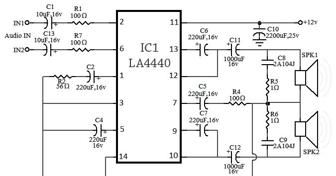 la4440 amplifier circuit