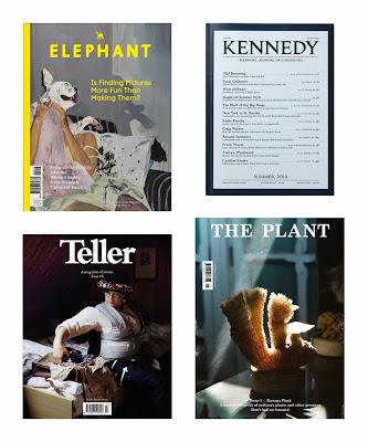 elephant magazine, teller magazine, kenedy magazine, the plant magazine