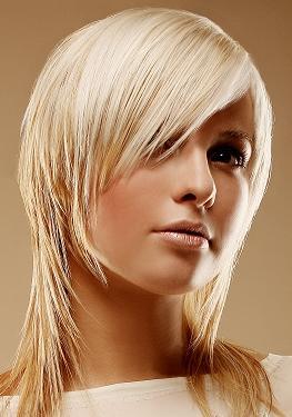 Cortes de cabello largo asimetricos para mujer