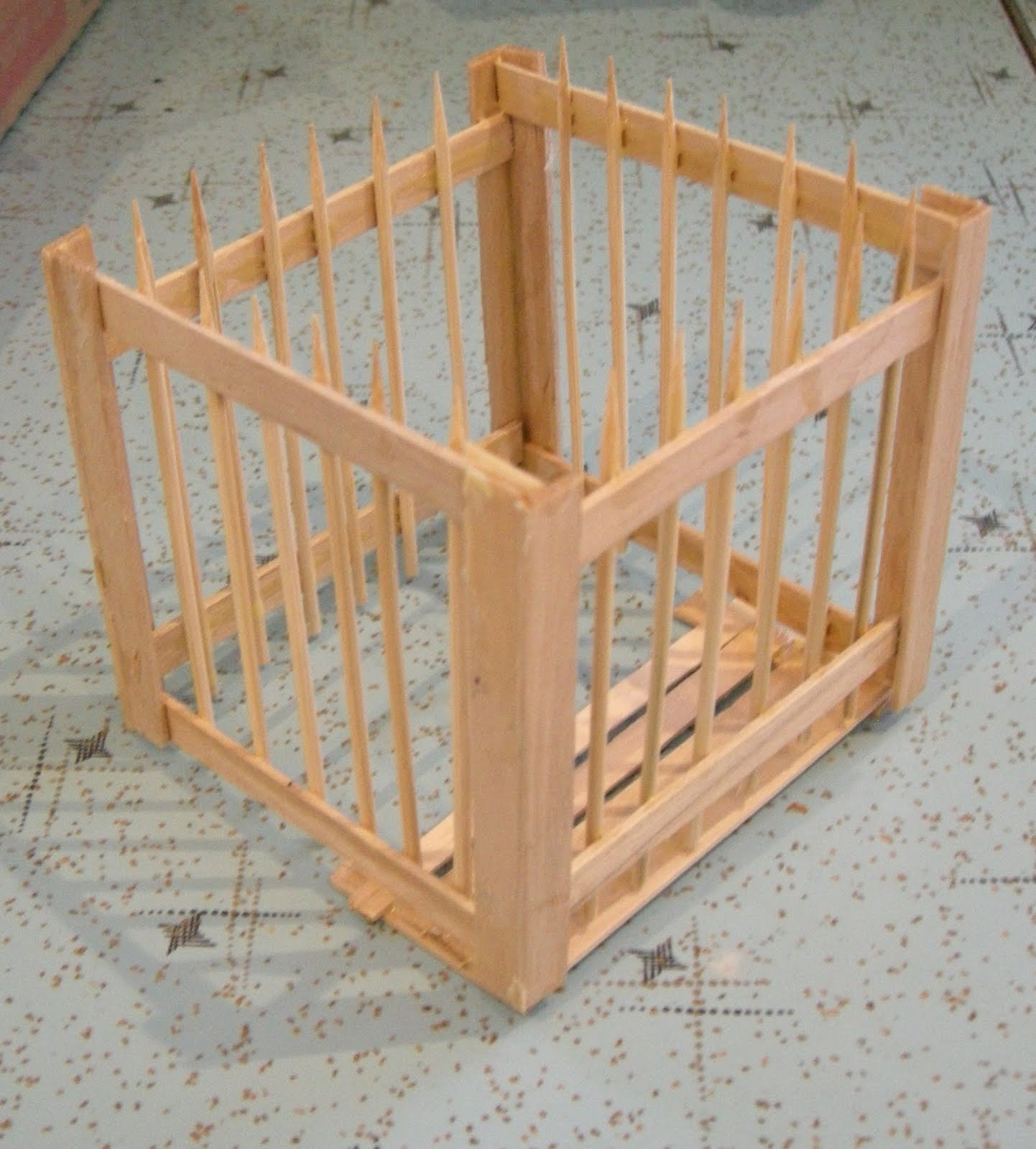Any How Town Building Popsicle Stick Cages Examples