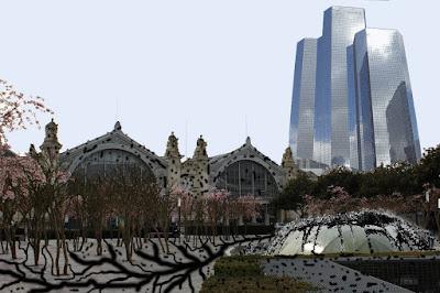 gare de Tours projet ilot Vinci : la tour Total