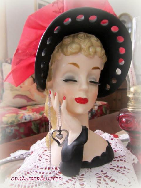 Valentine's Day Vignette with Headvases