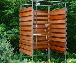 Decoracion de patios ducha exterior patios y jardines - Ducha de jardin ...