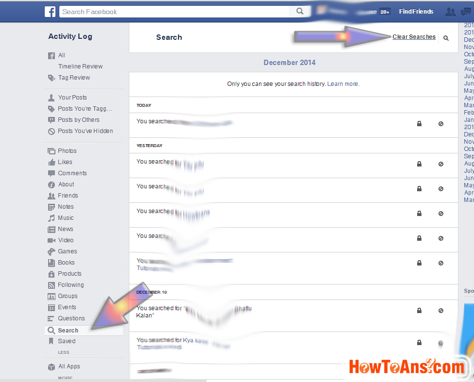 How to clear facebook search history | How To Ans -Dont worry about