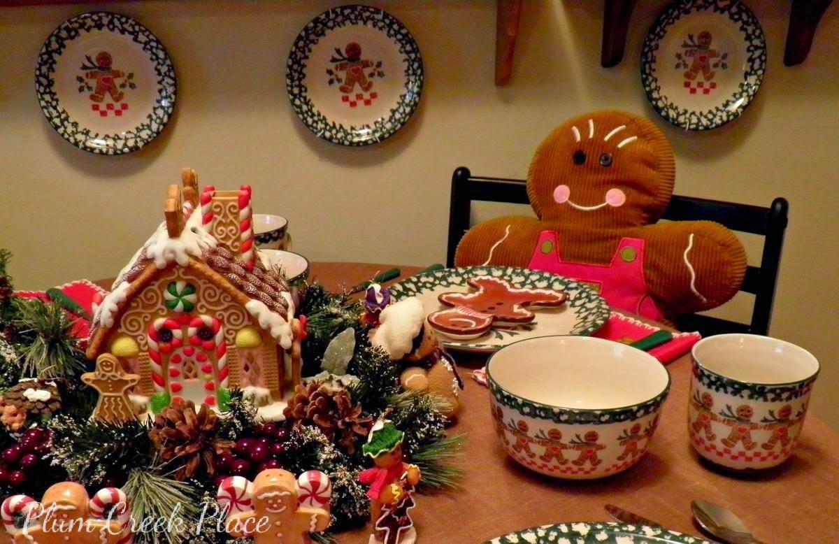 Plum Creek Place - Gingerbread Tablescape