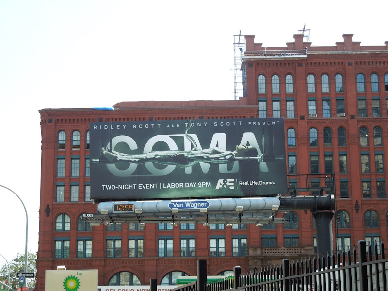 Coma TV mini series billboard NYC
