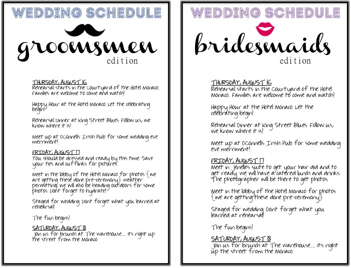 Search results for 5 1 2 x 8 1 2 wedding program for Wedding rehearsal schedule template
