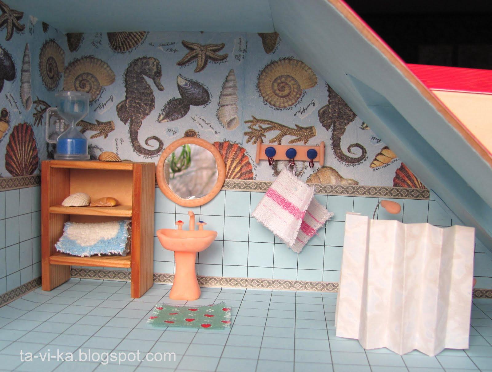 Как сделать ванную для кукол