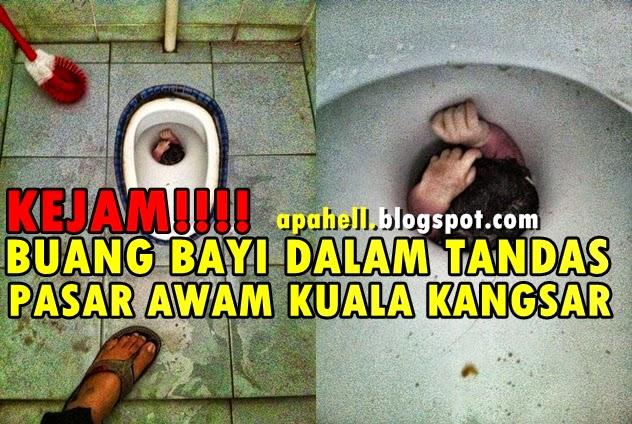 Kejam!! Buang Bayi Dalam Lubang Tandas di Kuala Kangsar (3 Gambar)