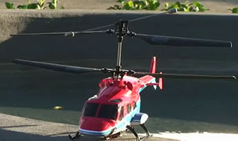 red AirWolf RC Helicopter 2009 image