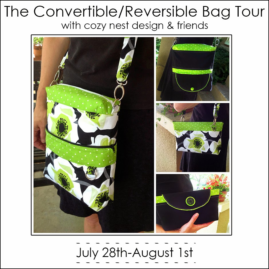 Cozy Nest Convertible/Reversible Bag Blog Tour with Keep Calm and Carrion