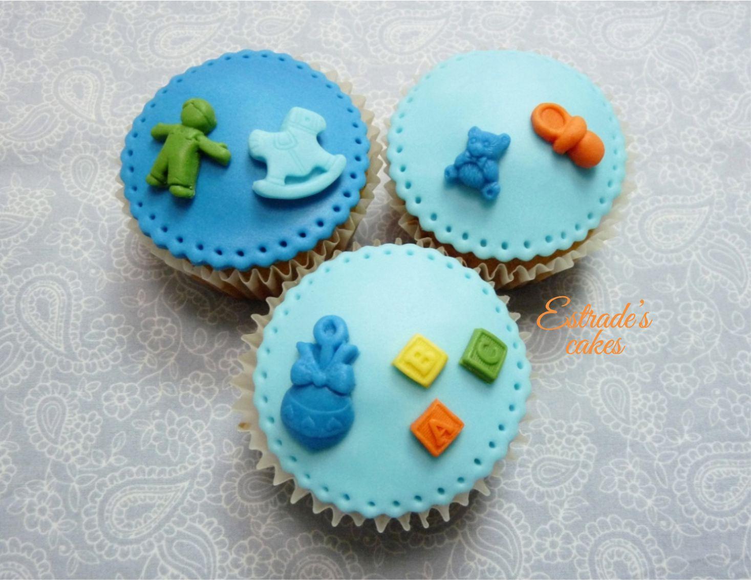 cupcakes para bebé con fondant 2 - 2