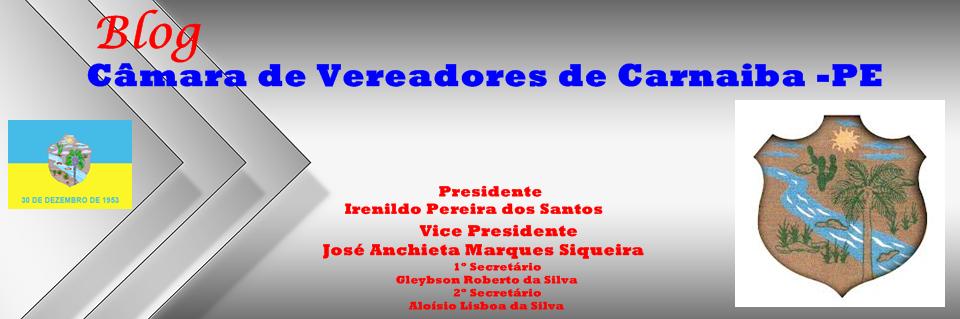 Blog da Câmara de Vereadores de Carnaiba