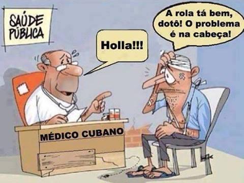 QJUANDO OS MÉDICOS  CUBANOS  CHEGARAM NO BRASIL KKKKKKKKK