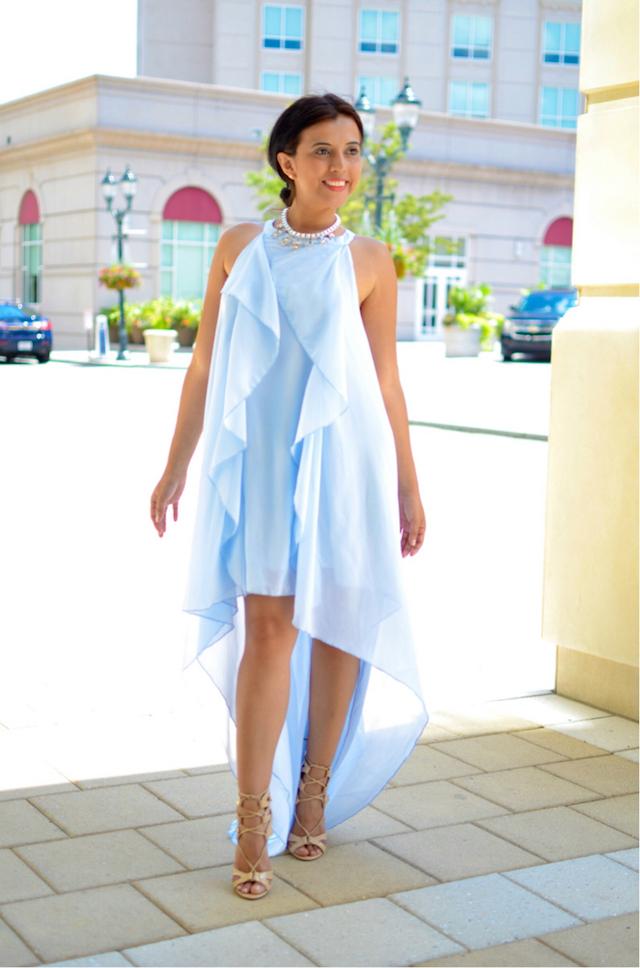 Vestido baby blue-sheinside-collar sterling-mariestilo