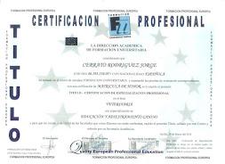 Titulación Profesional
