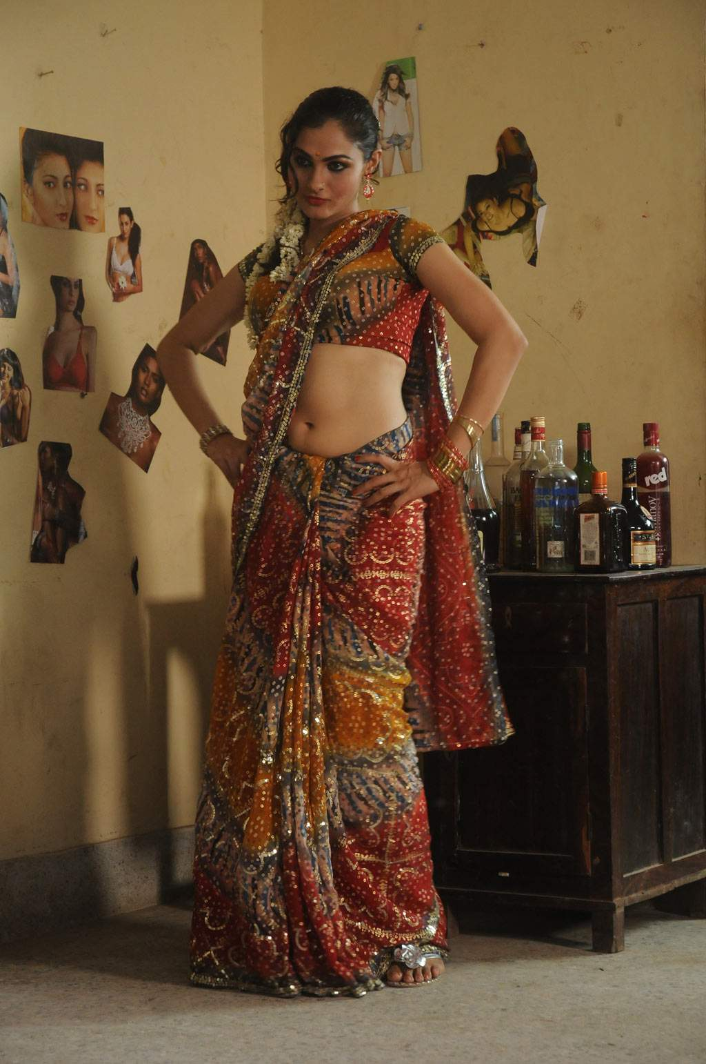 Saree Navel Show Actress Hot