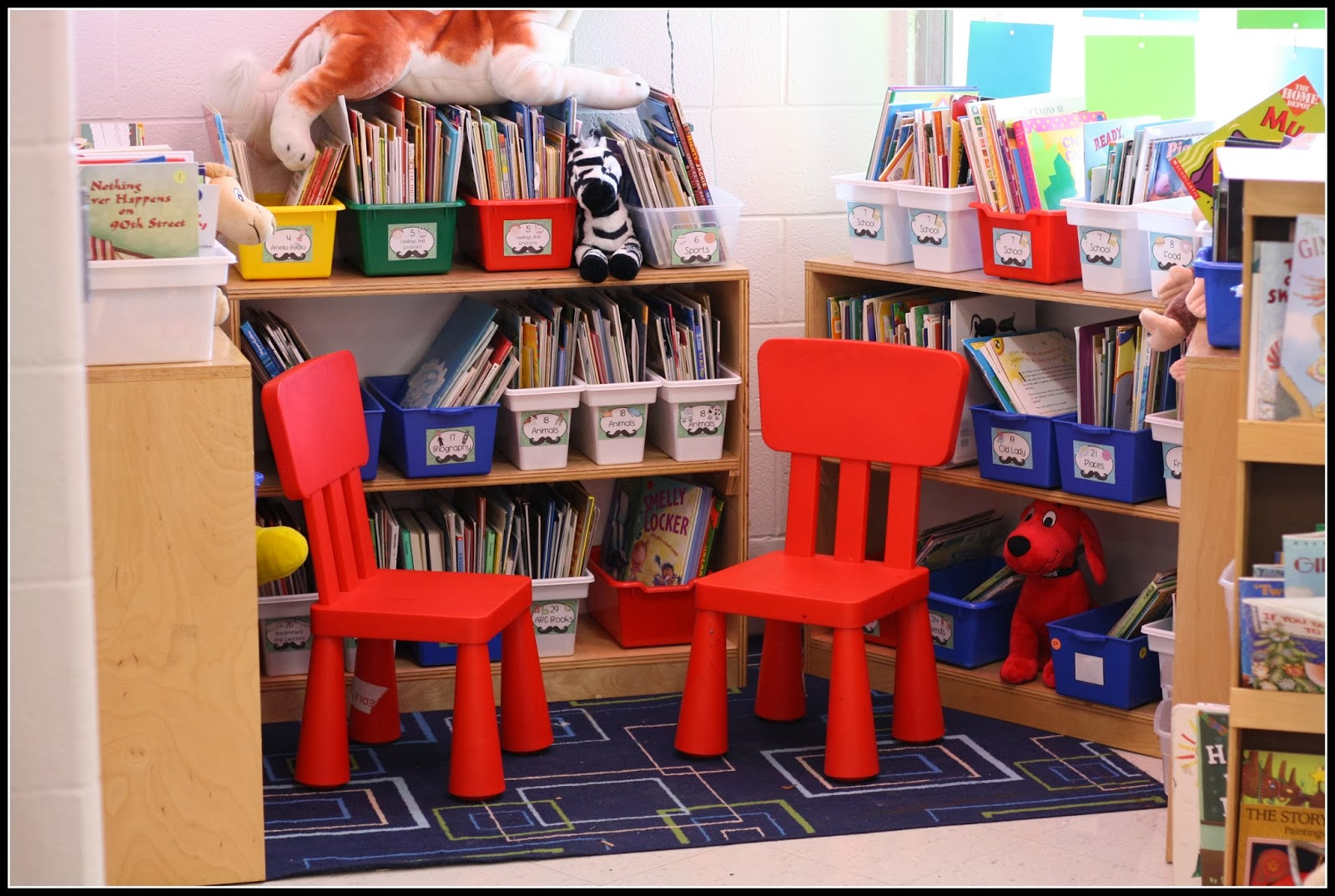 Classroom Library Ideas Kindergarten ~ Kindergarten classroom library success organized