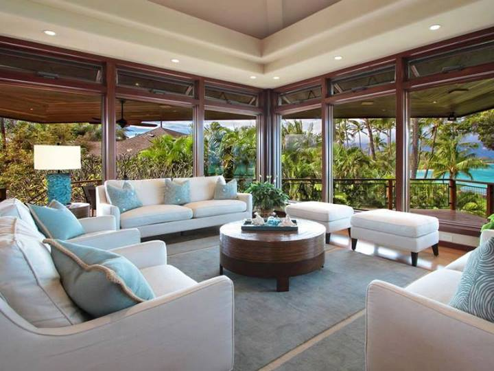 Elegant Living Rooms Beach Homes