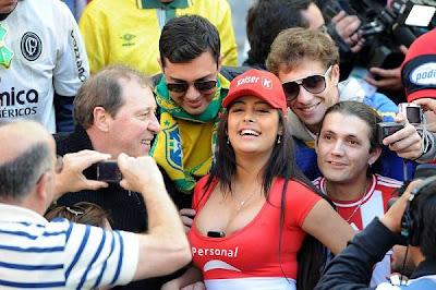 modelo larissa riquelme la atraccin del partido paraguay y brasil latest photos