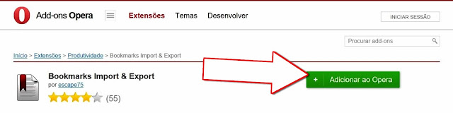 Instalar Bookmarks Import & Export de Martin Sermak para o Opera Browser