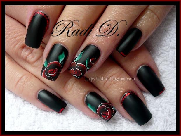nails black matte