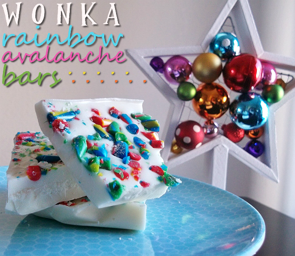 Wonka Rainbow Avalanche Bars, New Years Eve Idea