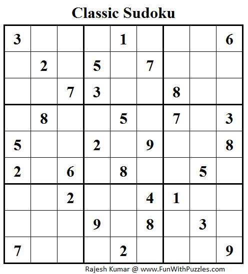 Classic Sudoku (Fun With Sudoku #42)