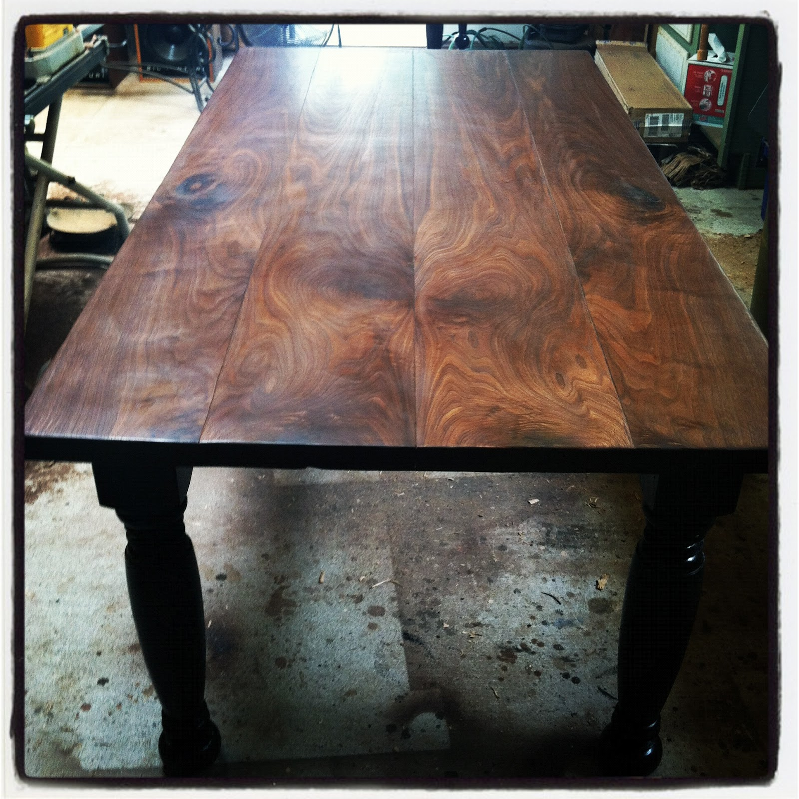 A Four Plank Black Walnut Table. If You Look Closely (the Pictures Can Be  Enlarged By Clicking Them) The Outside Boards Are Bookmatched And The Inner  Two ...