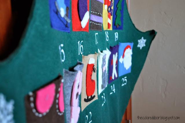 Advent Calendar - the colored door