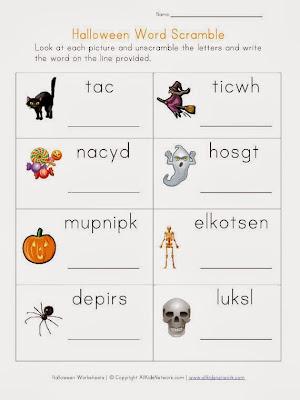 Halloween Printable Word Search For Kids 1
