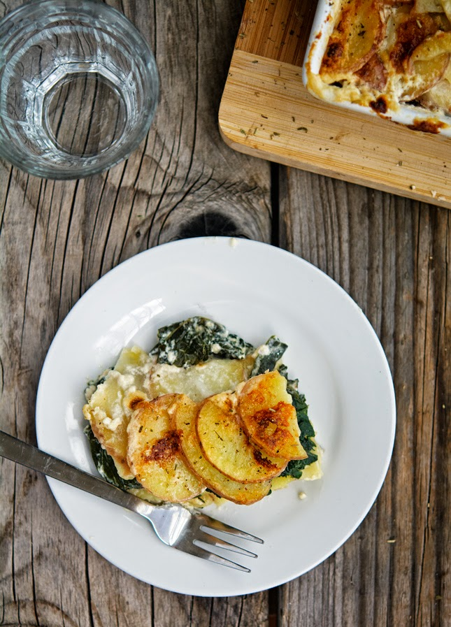 Kale And Potato Gratin Recipe — Dishmaps