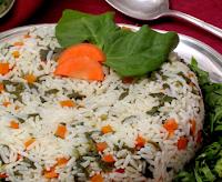 Arroz com Cenoura e Espinafre (vegana)