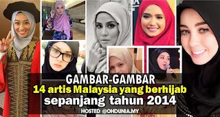 Gambar-gambar 14 artis wanita Malaysia yang berhijab sepanjang 2014