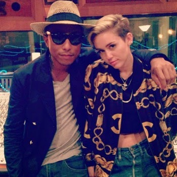 Miley Cyrus and Pharrell Williams