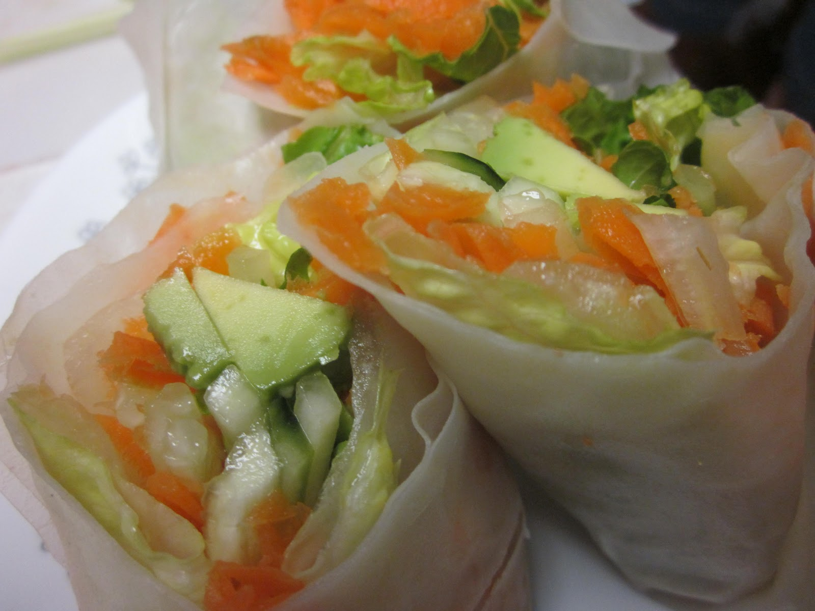 Cucumber And Avocado Summer Rolls With Mustard-Soy Sauce Recipes ...