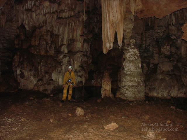 сухие натеки пещера